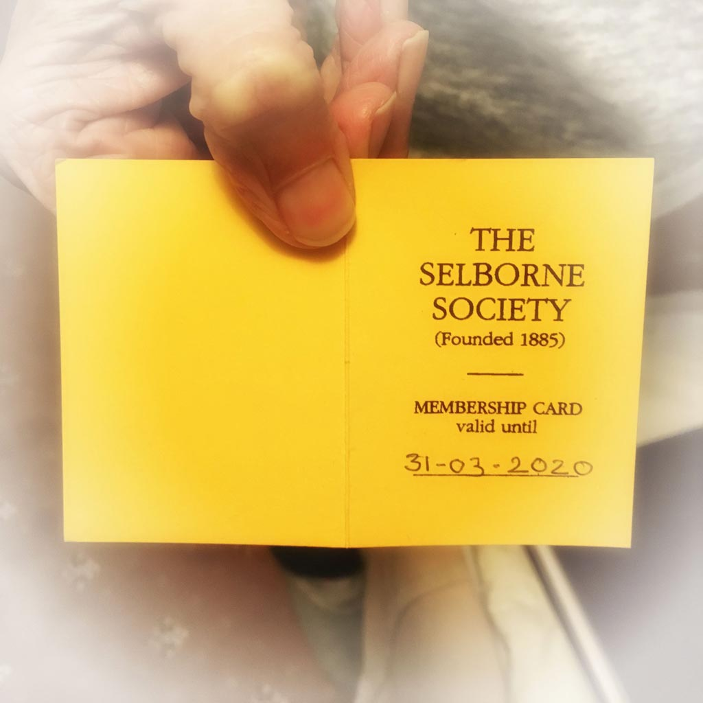 Photo of Society Membership Card